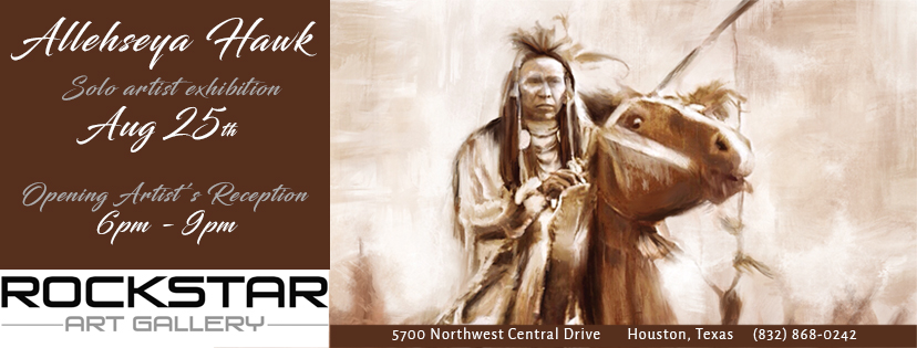 Riders in the Storm, Native American Art, Art show, rockstar gallery, Allehseya Hawk